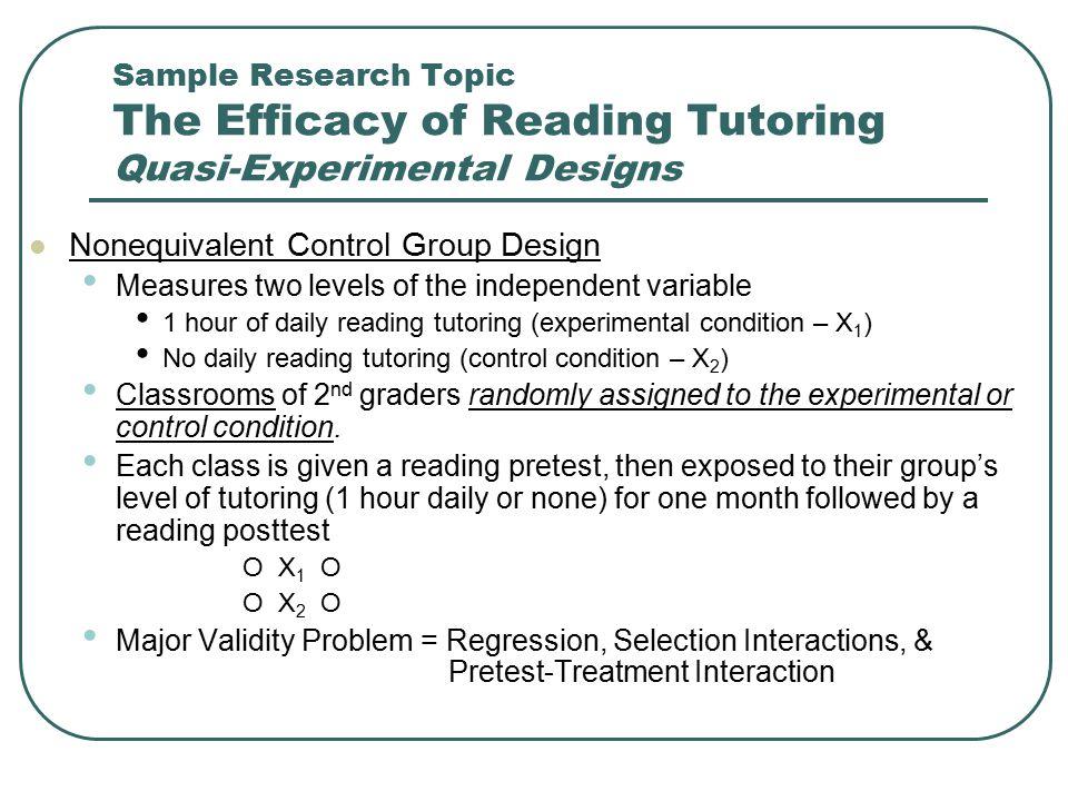 Nonequivalent Control Group Design