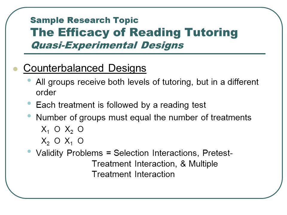 Counterbalanced Designs