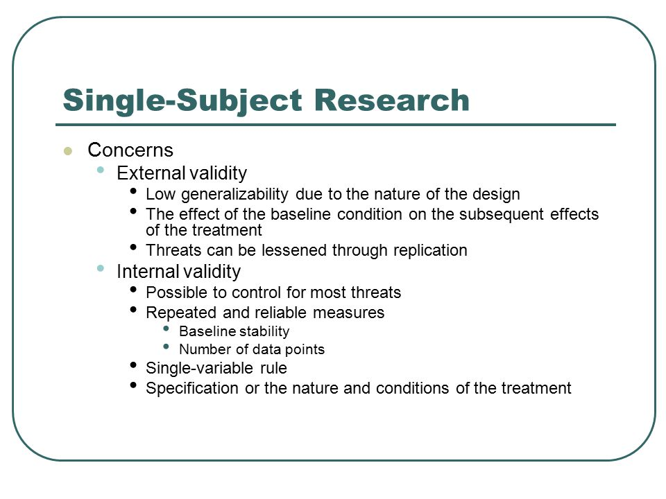 Single-Subject Research
