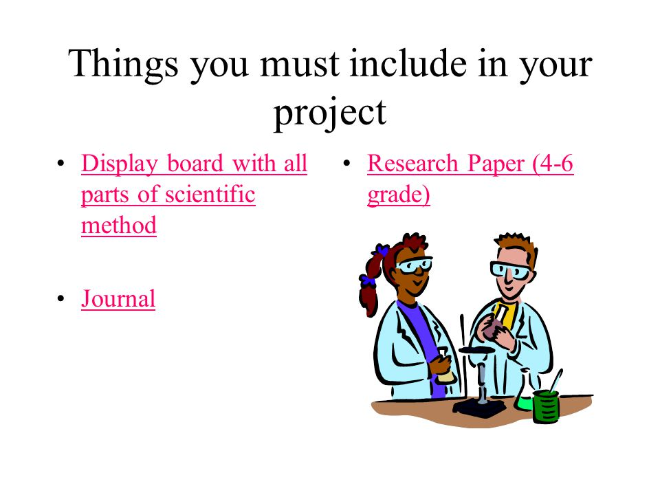 Things you must include in your project