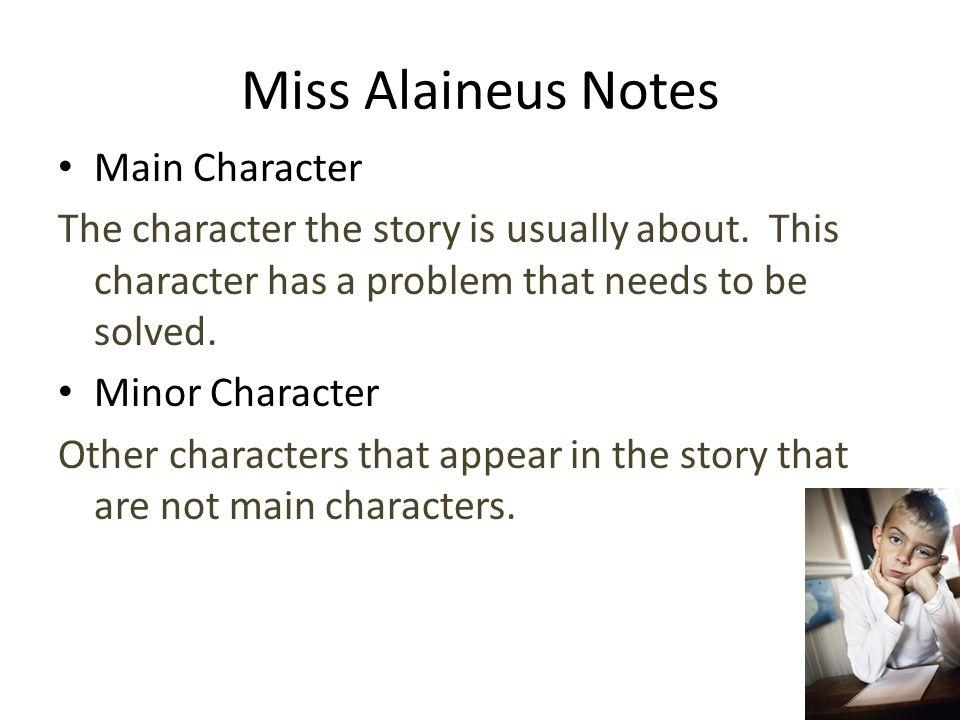 Miss Alaineus Notes Main Character