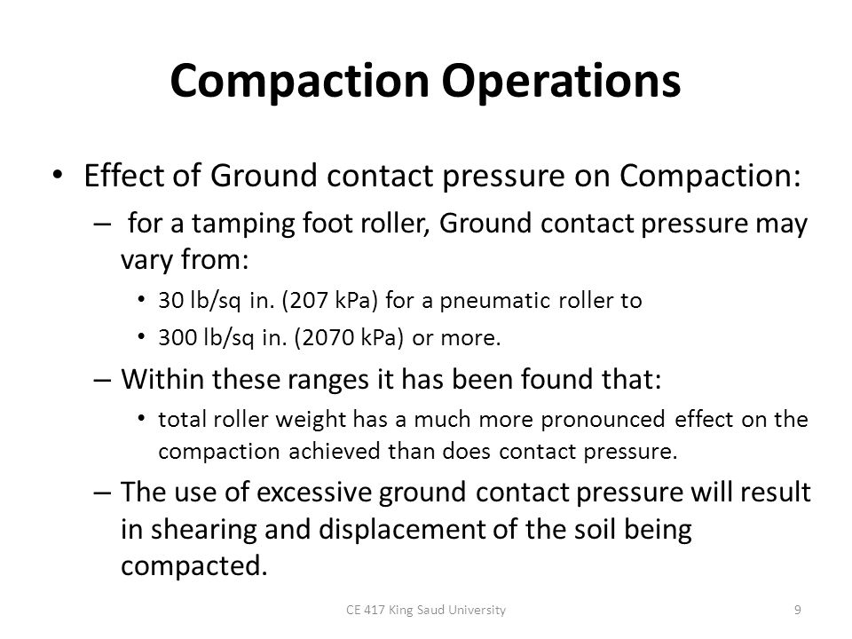 Compaction Operations