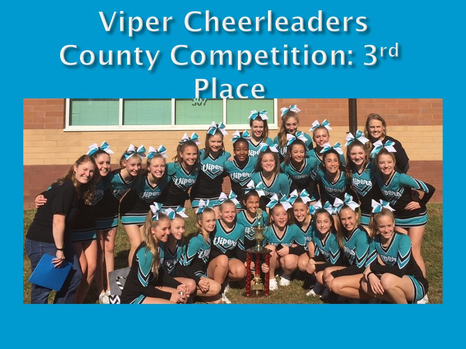 Viper Cheerleaders County Competition: 3rd Place