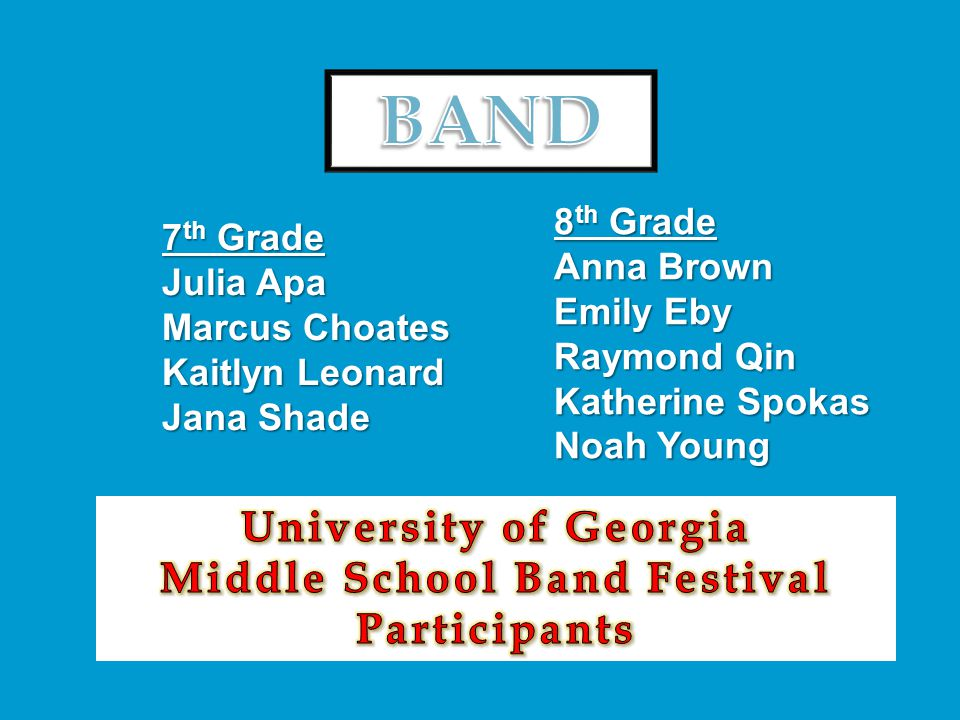 Middle School Band Festival