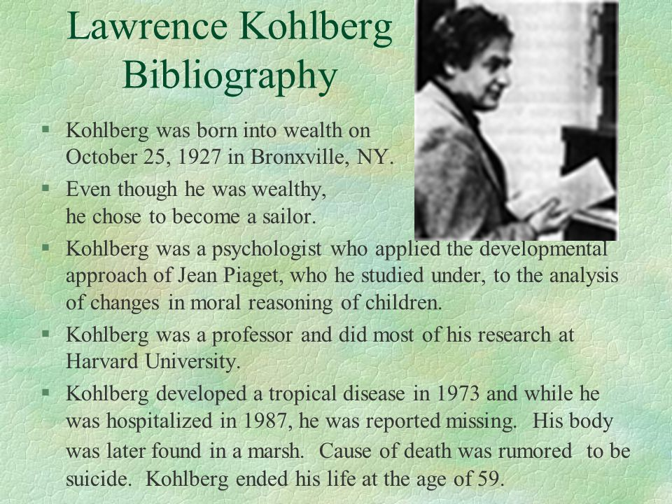 Lawrence Kohlberg Bibliography