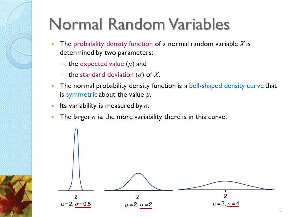 Normal Random Variables