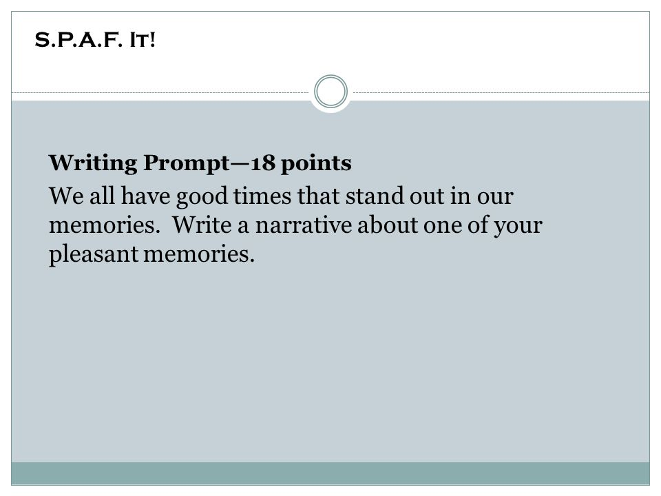Writing Prompt—18 points