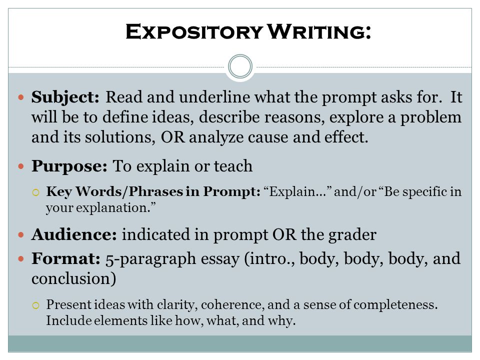 Expository Writing:
