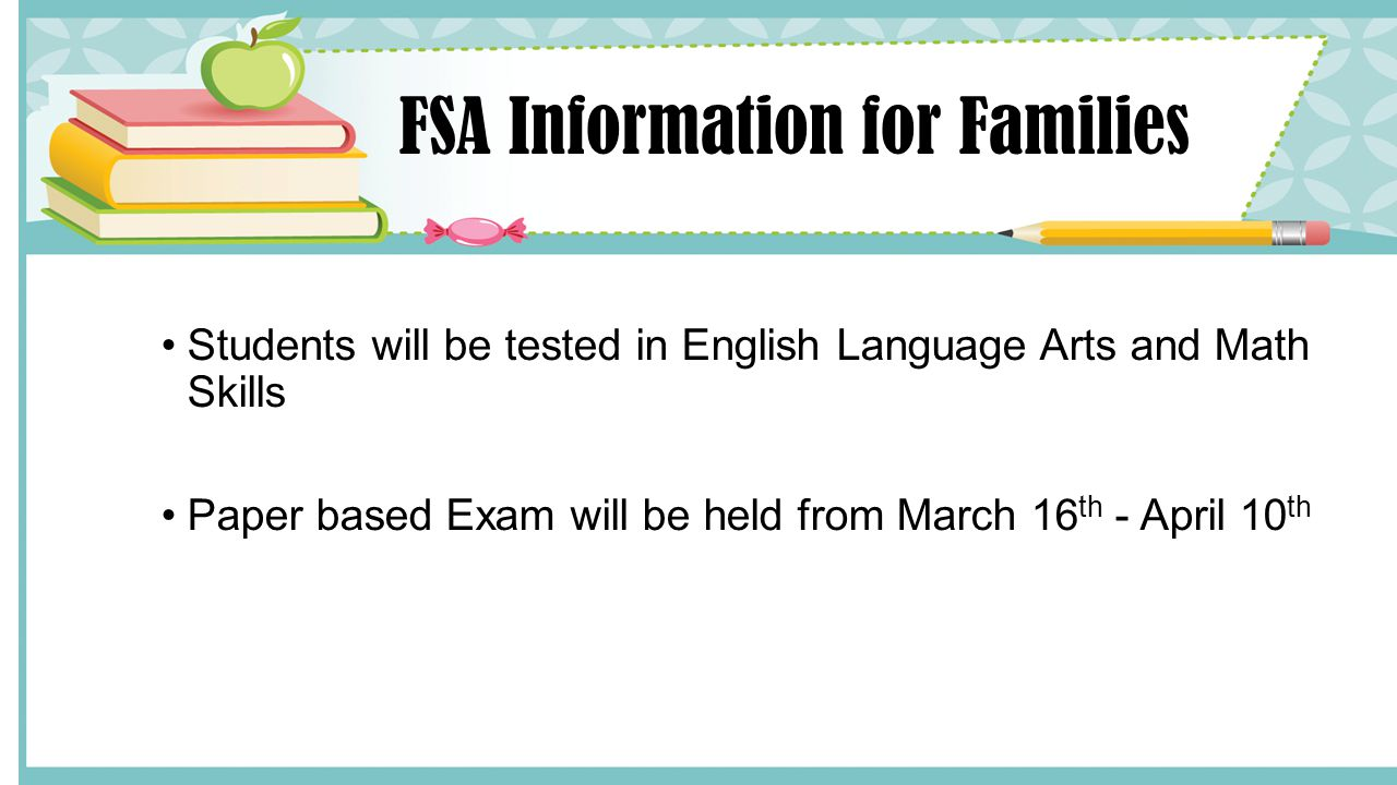 FSA Information for Families