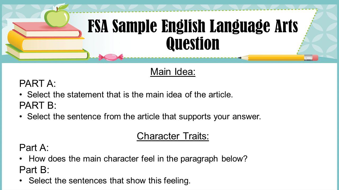 FSA Sample English Language Arts Question