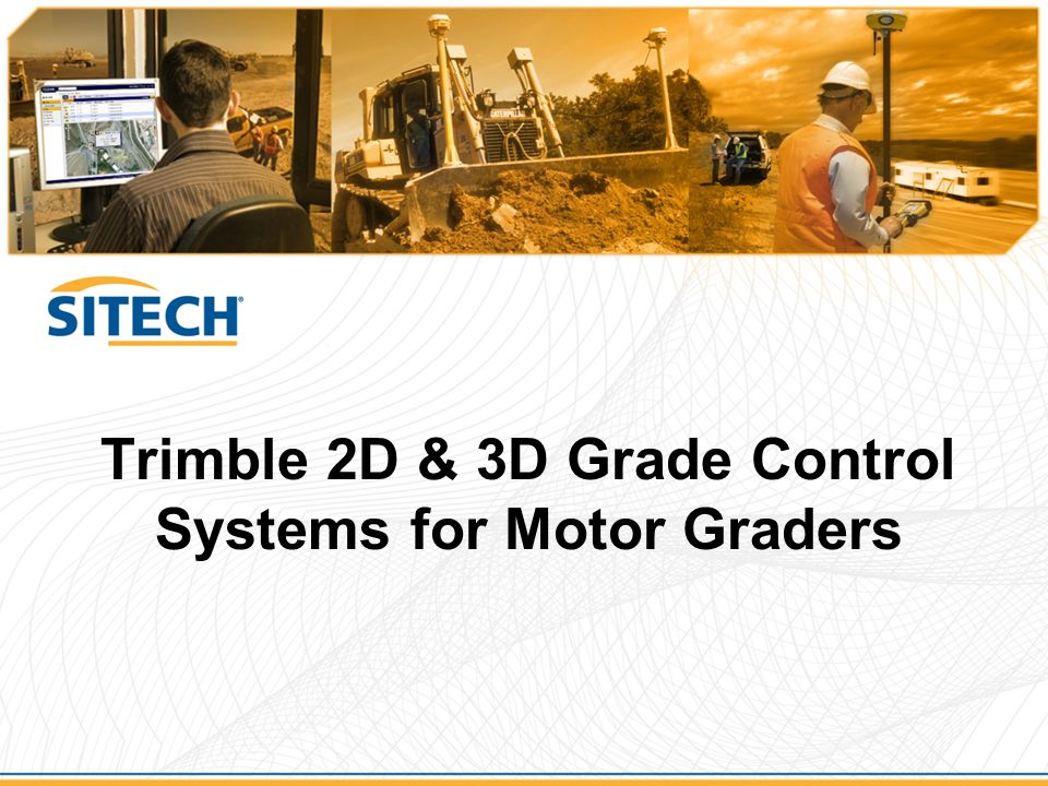 Trimble 2D & 3D Grade Control Systems for Motor Graders