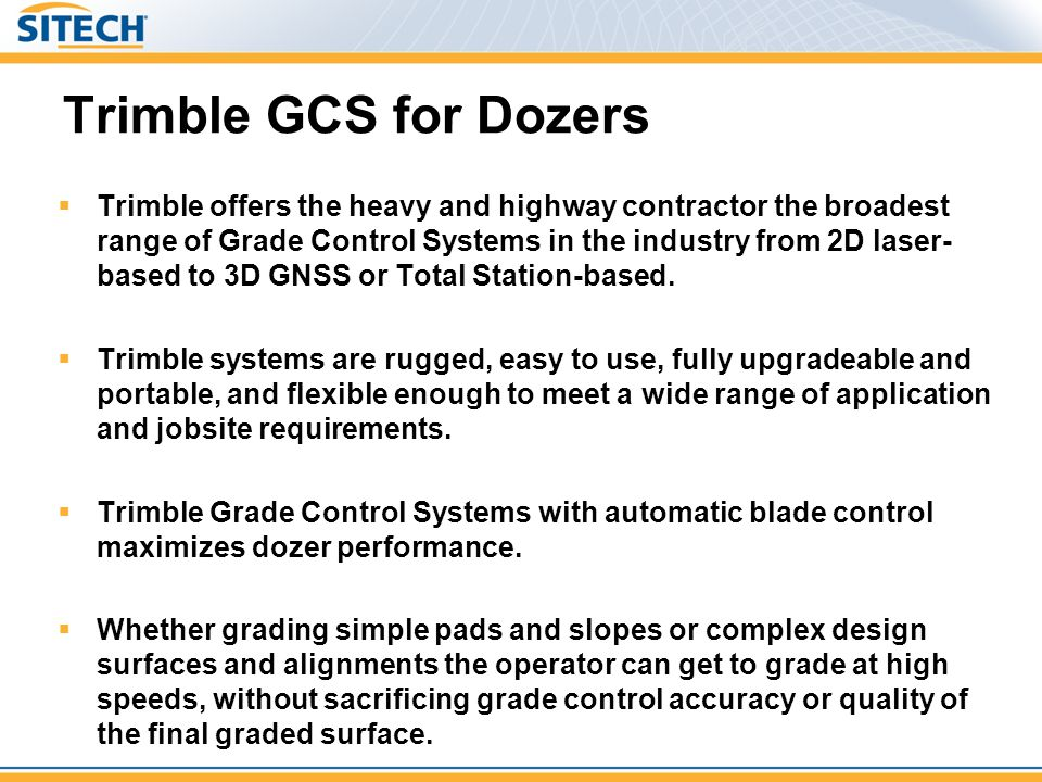 Trimble GCS for Dozers