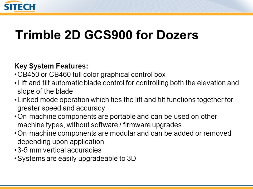Trimble 2D GCS900 for Dozers