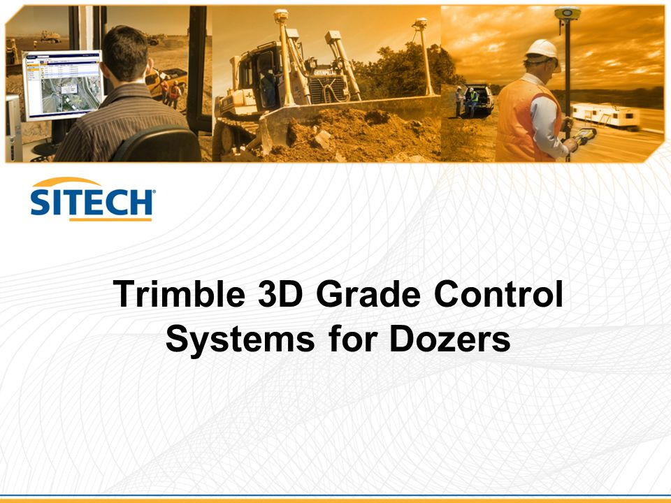 Trimble 3D Grade Control Systems for Dozers