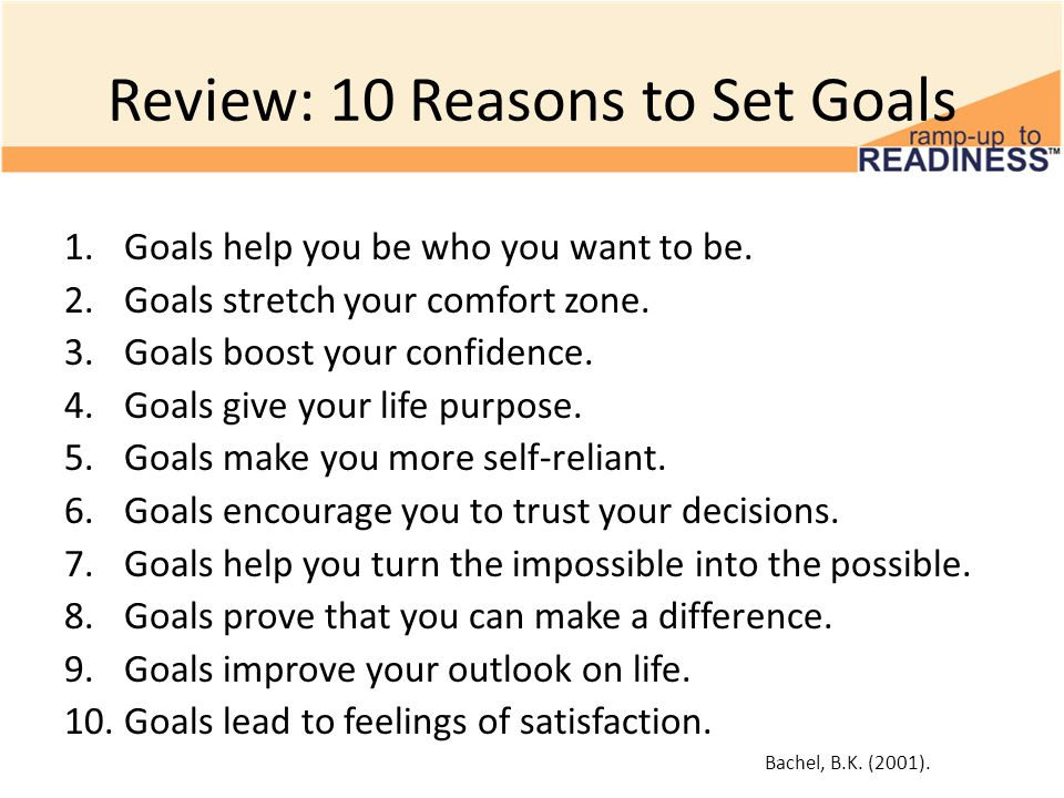 Review: 10 Reasons to Set Goals