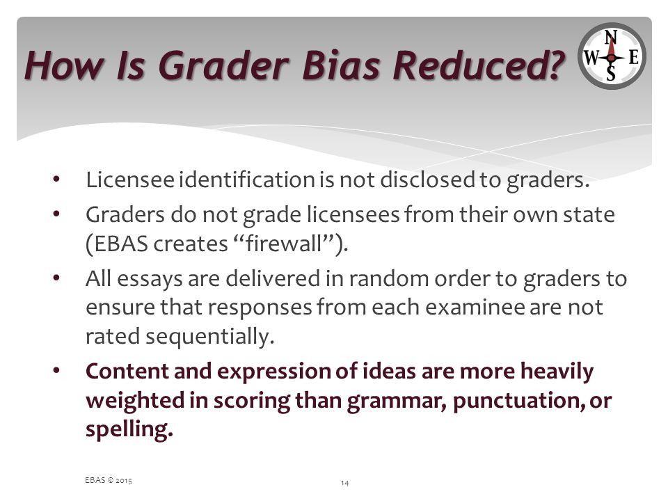 How Is Grader Bias Reduced
