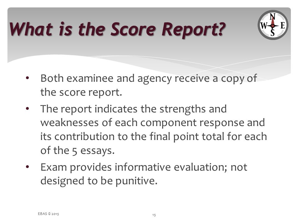 What is the Score Report