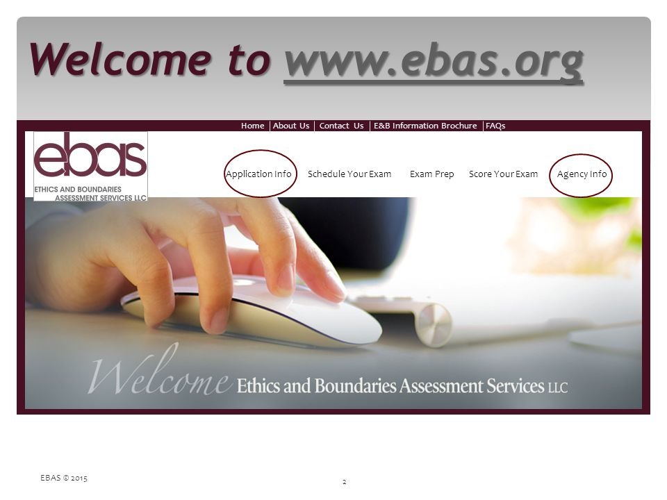 Welcome to www.ebas.org EBAS © 2015