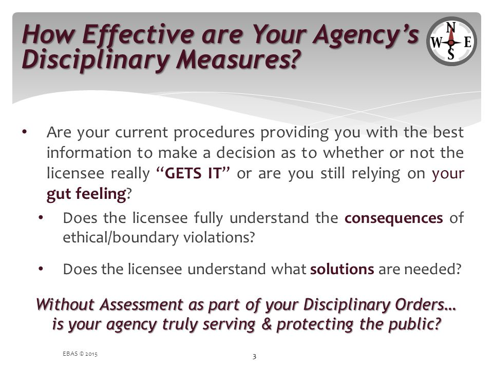 How Effective are Your Agency's Disciplinary Measures