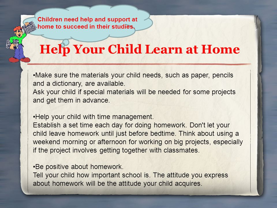 Help Your Child Learn at Home