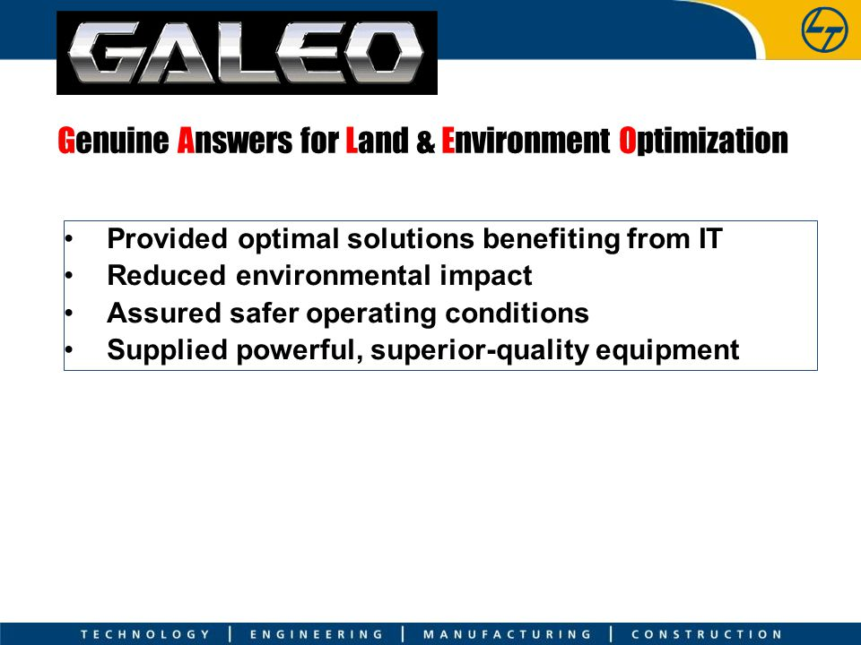 Genuine Answers for Land & Environment Optimization