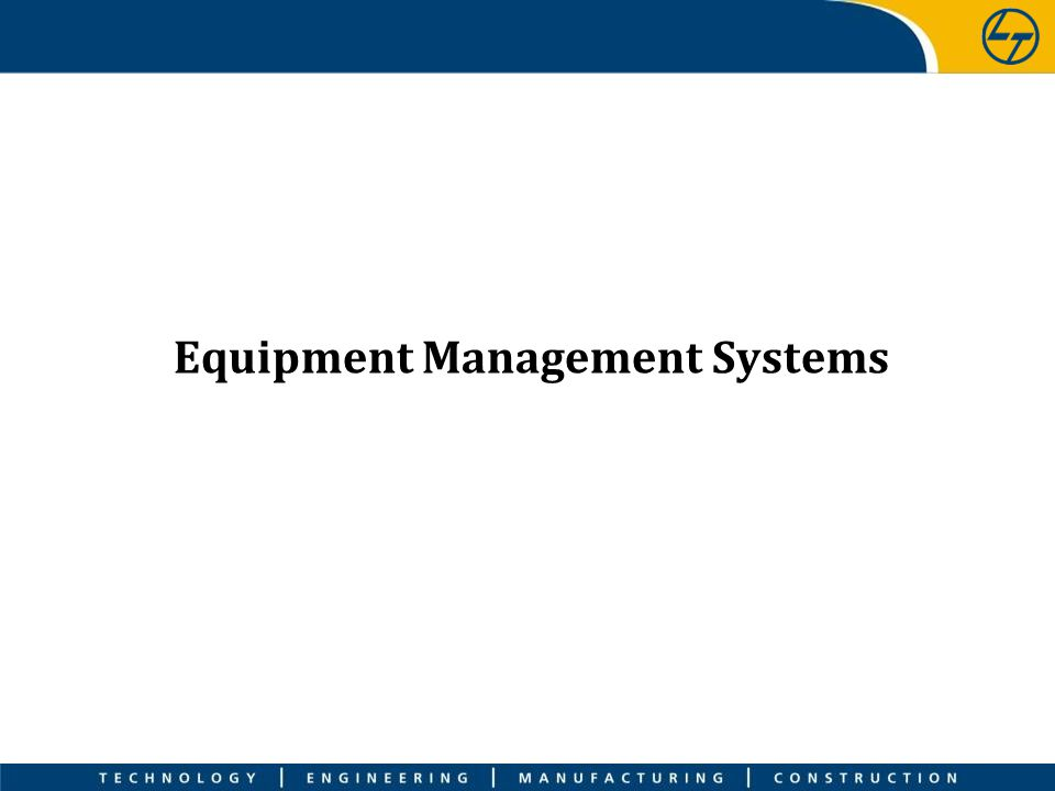 Equipment Management Systems