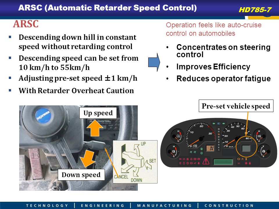 ARSC ARSC (Automatic Retarder Speed Control)