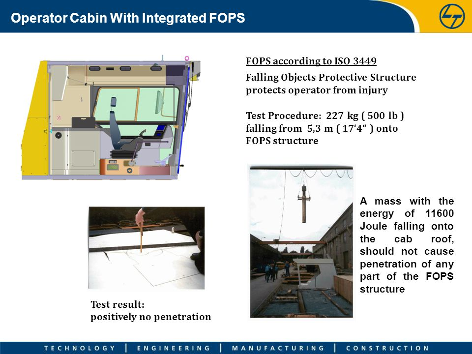 Operator Cabin With Integrated FOPS
