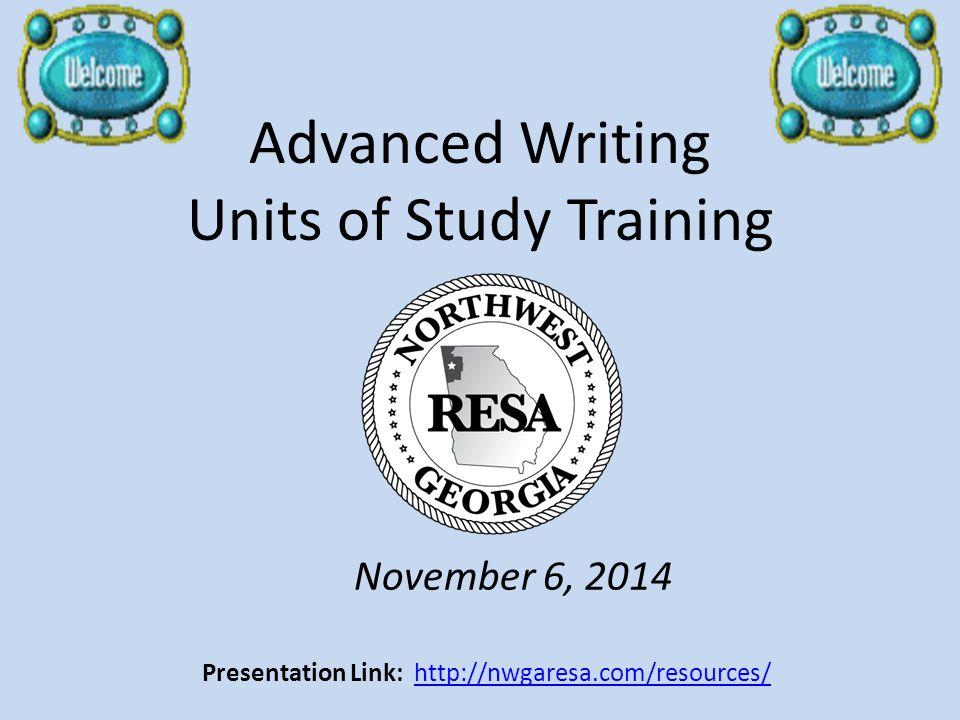 Advanced Writing Units of Study Training