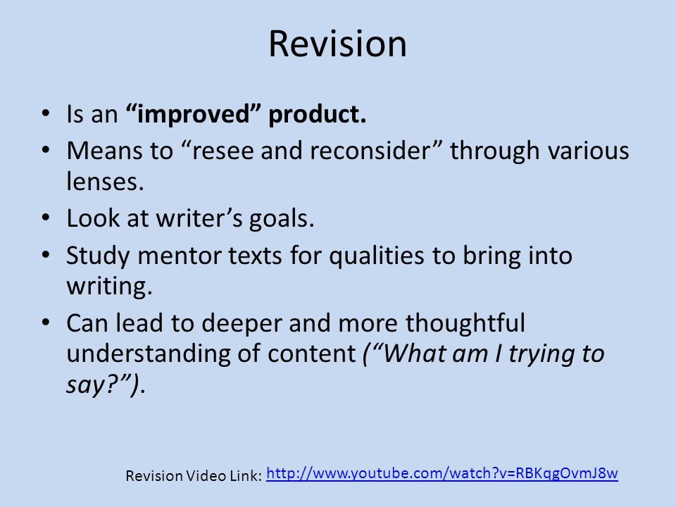 Revision Is an improved product.