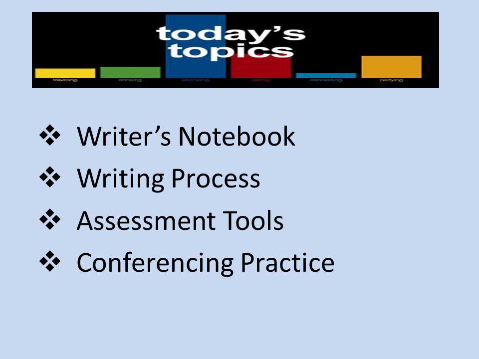 Writer's Notebook Writing Process Assessment Tools Conferencing Practice