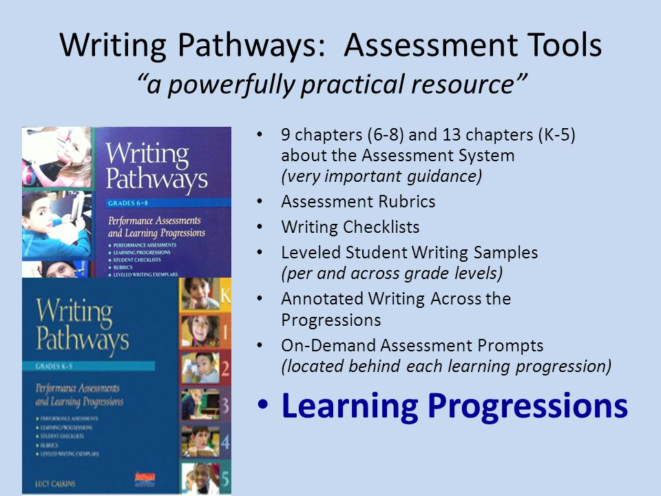 Writing Pathways: Assessment Tools a powerfully practical resource