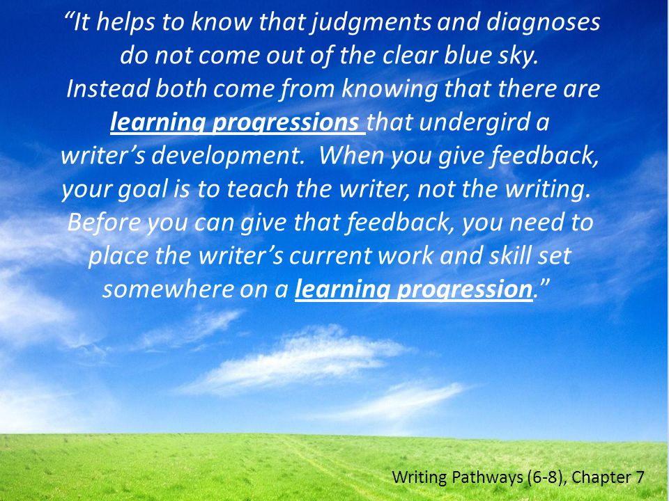 It helps to know that judgments and diagnoses