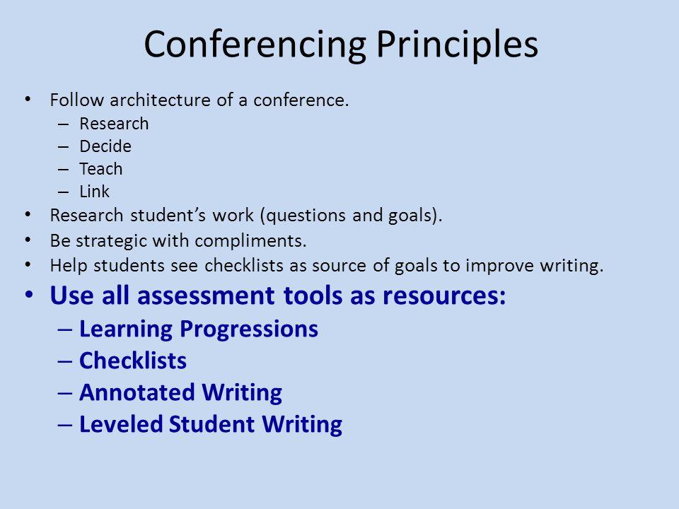 Conferencing Principles
