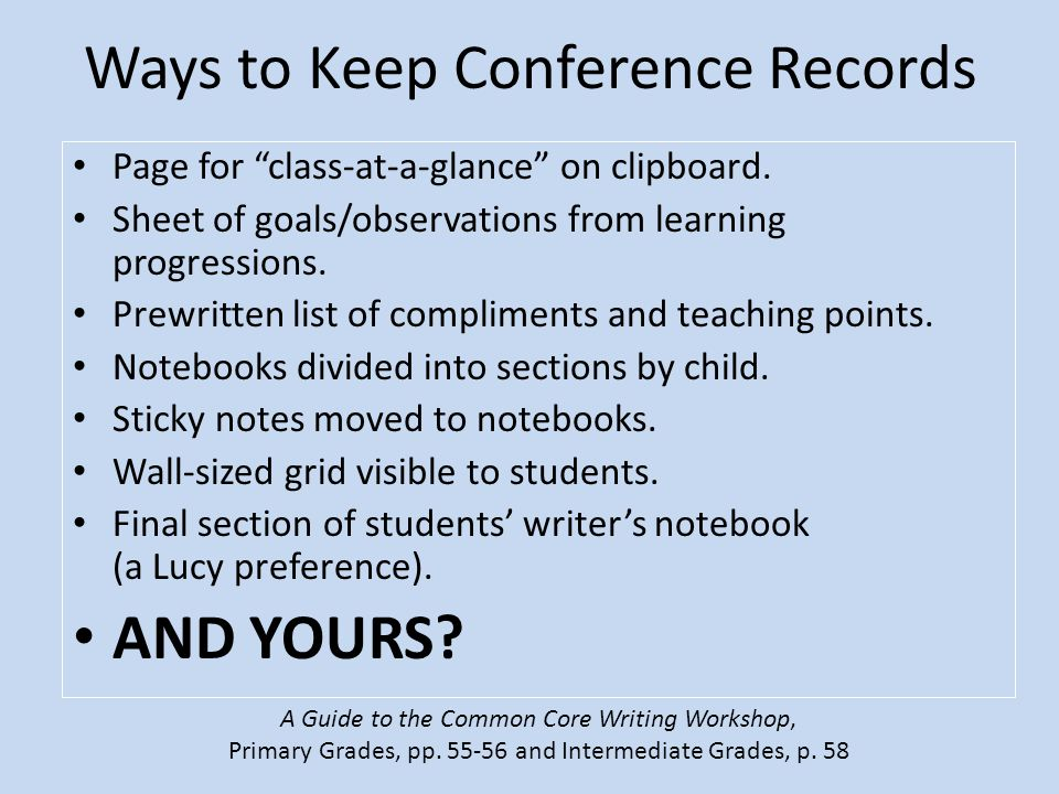 Ways to Keep Conference Records