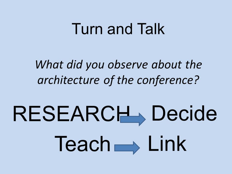 RESEARCH Decide Teach Link