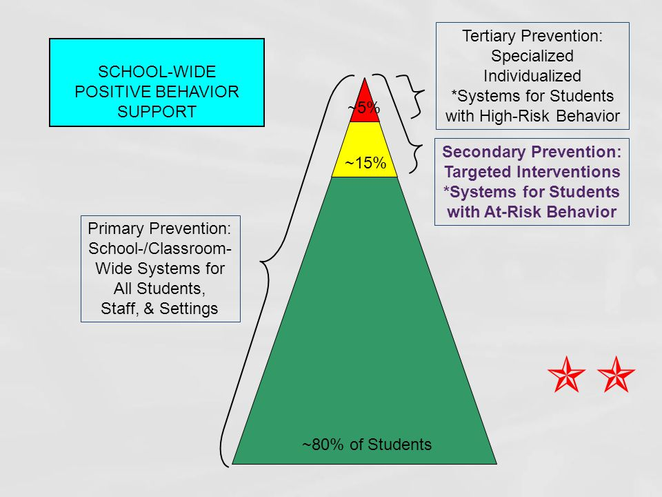  Tertiary Prevention: Specialized Individualized SCHOOL-WIDE