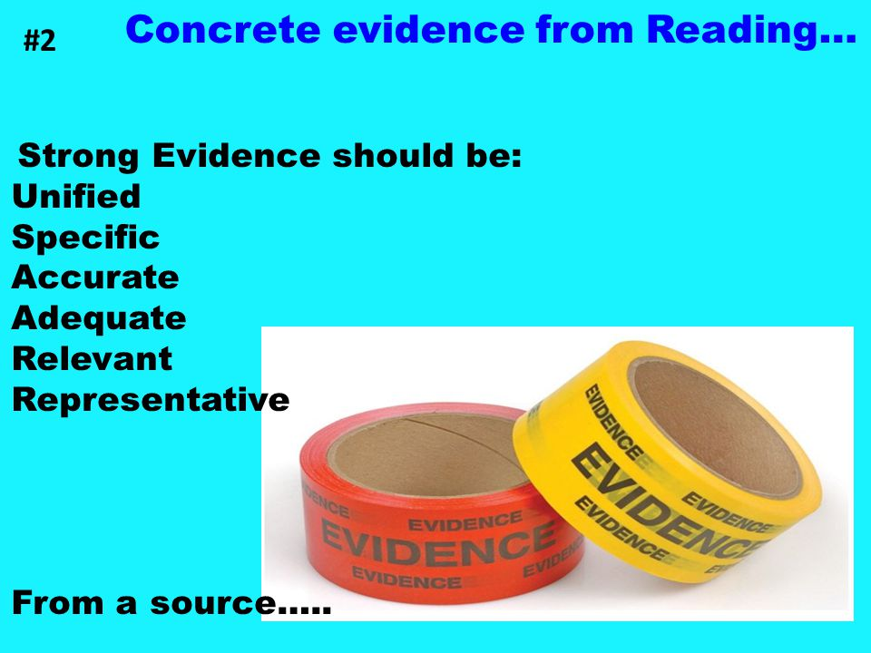Concrete evidence from Reading…