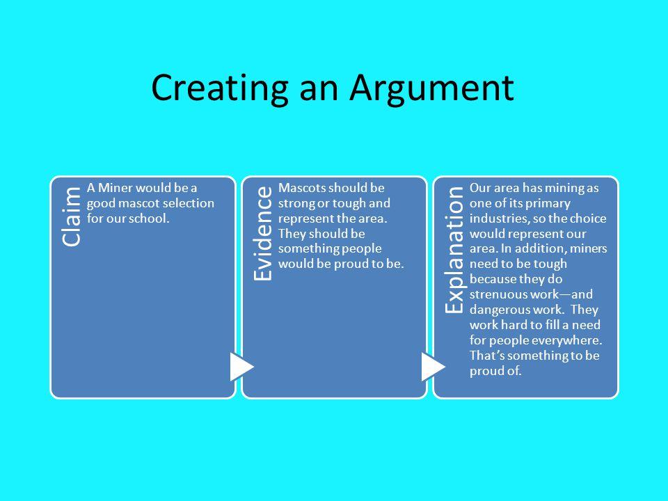 Creating an Argument Leslie