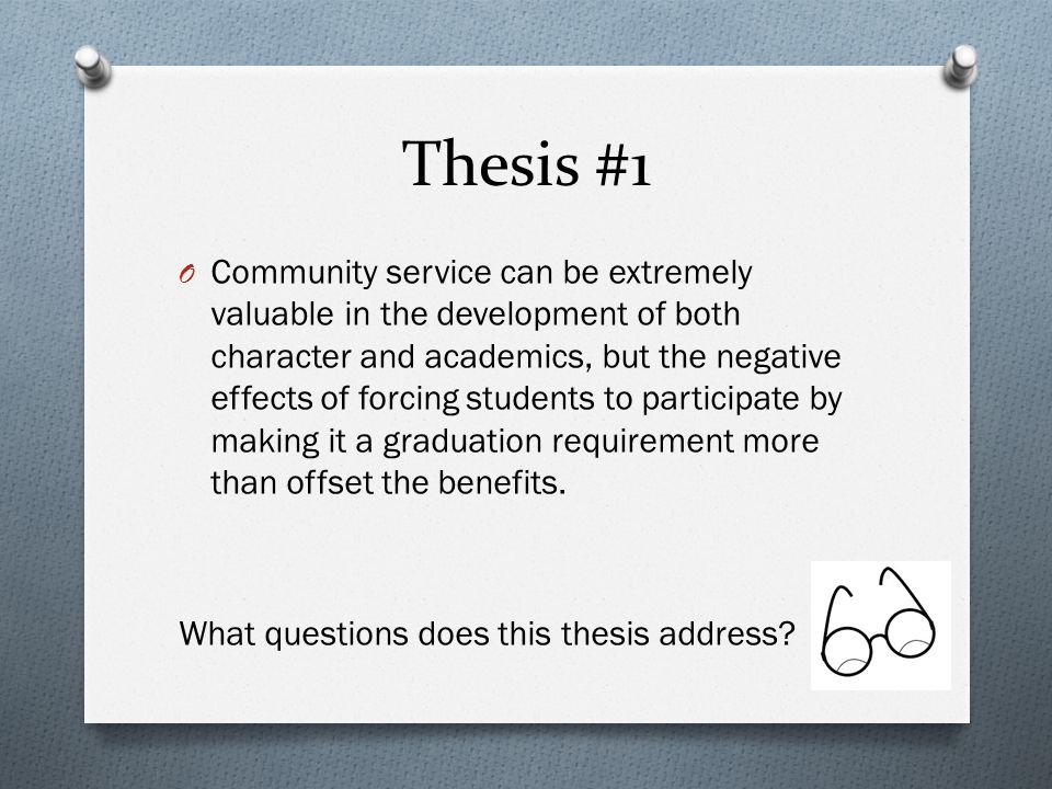Thesis #1