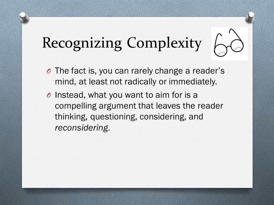 Recognizing Complexity