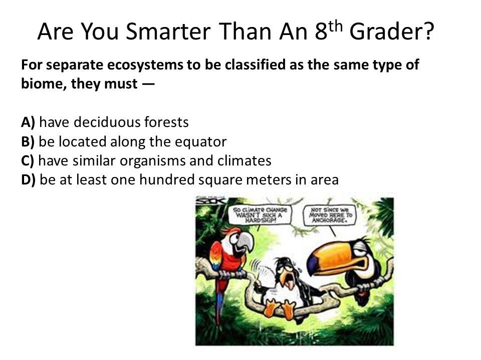 Are You Smarter Than An 8th Grader
