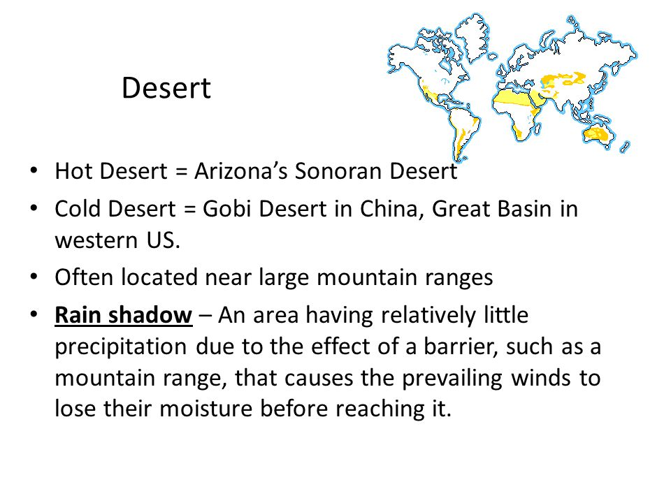 Desert Hot Desert = Arizona's Sonoran Desert
