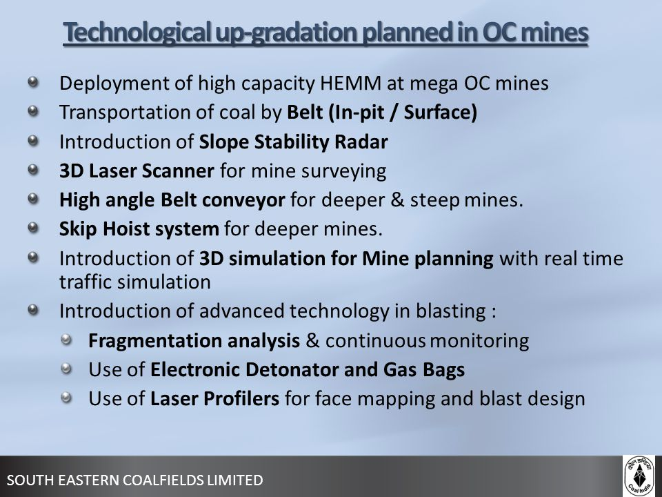 Technological up-gradation planned in OC mines
