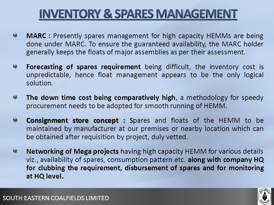 INVENTORY & SPARES MANAGEMENT
