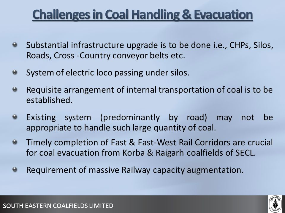 Challenges in Coal Handling & Evacuation