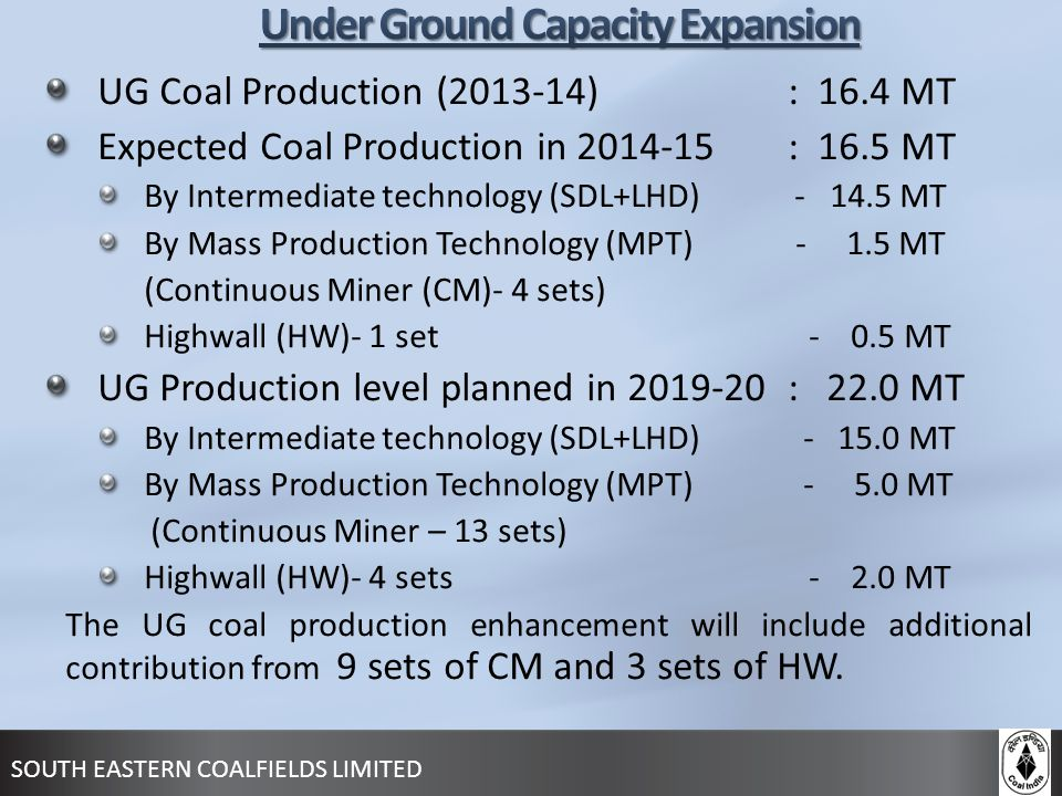 Under Ground Capacity Expansion