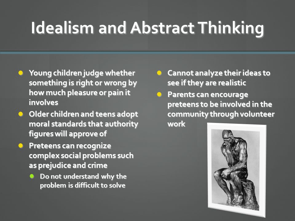 Idealism and Abstract Thinking