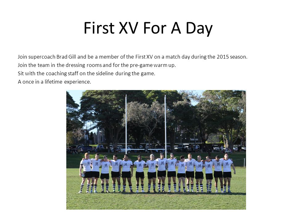 First XV For A Day
