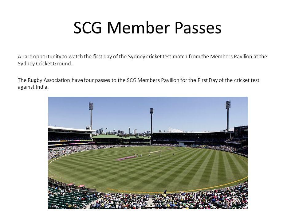 SCG Member Passes